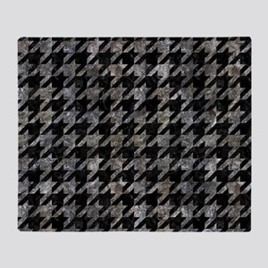HOUNDSTOOTH1 BLACK MARBLE & GRAY STO Throw Blanket