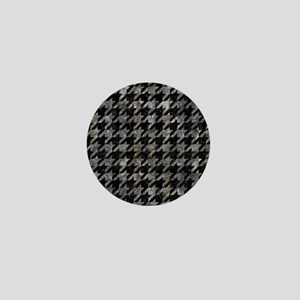 HOUNDSTOOTH1 BLACK MARBLE & GRAY STONE Mini Button