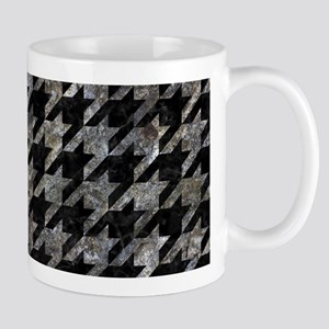 HOUNDSTOOTH1 BLACK MARBLE & GRAY 11 oz Ceramic Mug
