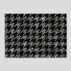 HOUNDSTOOTH1 BLACK MARBLE & GRAY ST 5'x7'Area Rug