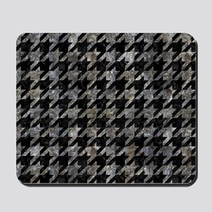 HOUNDSTOOTH1 BLACK MARBLE & GRAY STONE Mousepad