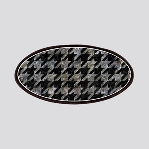 HOUNDSTOOTH1 BLACK MARBLE & GRAY STONE Patch