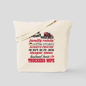 Husband Lovin' Truckers Wife Tote Bag