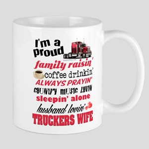 Husband Lovin' Truckers Wife Mugs