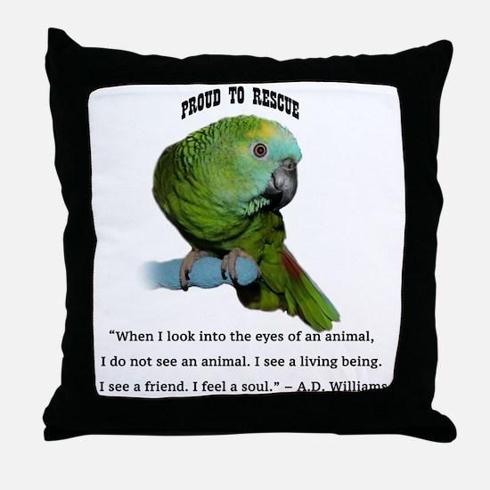 Cool Parrots Throw Pillow