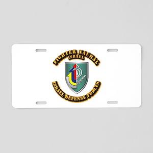 Fighter Nachal Aluminum License Plate