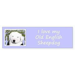 Old English Sheepdog Sticker (Bumper 50 pk)
