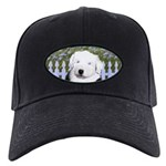 Old English Sheepdog Black Cap with Patch