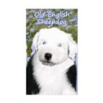 Old English Sheepdog Sticker (Rectangle 10 pk)