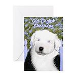 Old English Sheepdog Greeting Card