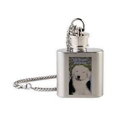 Old English Sheepdog Flask Necklace