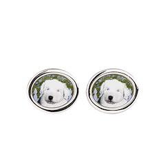 Old English Sheepdog Oval Cufflinks