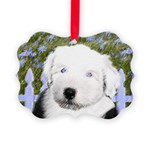 Old English Sheepdog Picture Ornament