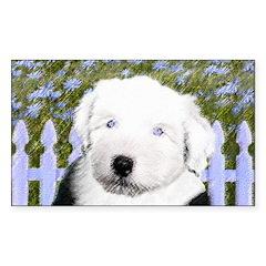 Old English Sheepdog Sticker (Rectangle)