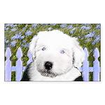 Old English Sheepdog Sticker (Rectangle 50 pk)