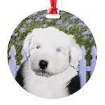 Old English Sheepdog Round Ornament