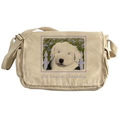 Old English Sheepdog Messenger Bag