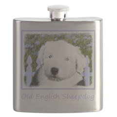 Old English Sheepdog Flask