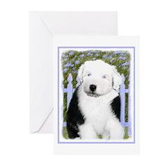 Old English Sheepdog Greeting Cards (Pk of 20)