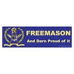 Masonic Proud Freemason Bumper Sticker