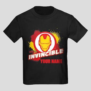 Avengers Assemble Iron Man Perso Kids Dark T-Shirt