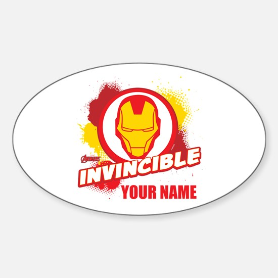 Avengers Assemble Iron Man Personal Sticker (Oval)