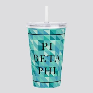 Pi Beta Phi Geometric Acrylic Double-wall Tumbler