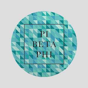 "Pi Beta Phi Geometric 3.5"" Button"