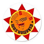 sun_logo Round Car Magnet