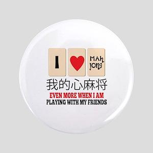 """Mah Jong & Friends 3.5"""" Button"""