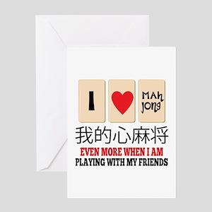 Mah Jong & Friends Greeting Cards