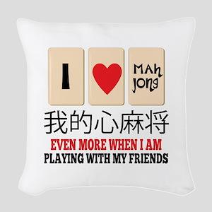 Mah Jong & Friends Woven Throw Pillow