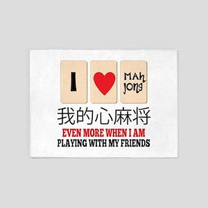 Mah Jong & Friends 5'x7'Area Rug