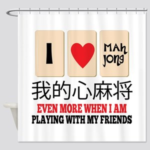 Mah Jong & Friends Shower Curtain