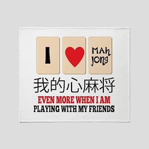Mah Jong & Friends Throw Blanket