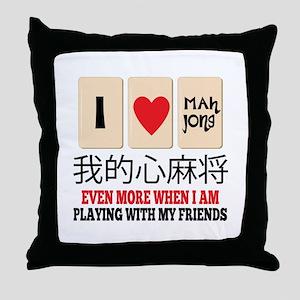 Mah Jong & Friends Throw Pillow