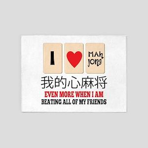 Mah Jong & Beating 5'x7'Area Rug