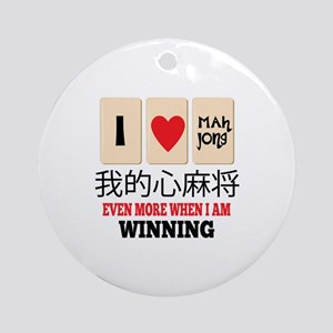 Mah Jong & WInning Ornament (Round)