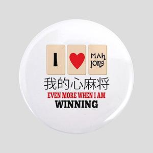 """Mah Jong & WInning 3.5"""" Button"""