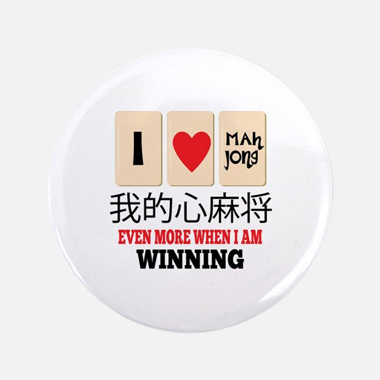 "Mah Jong & WInning 3.5"" Button"
