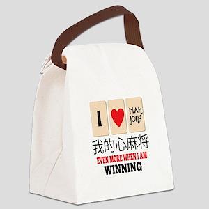 Mah Jong & WInning Canvas Lunch Bag