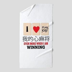 Mah Jong & WInning Beach Towel