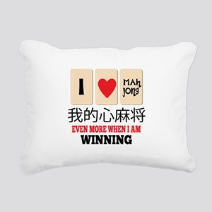 Mah Jong & WInning Rectangular Canvas Pillow