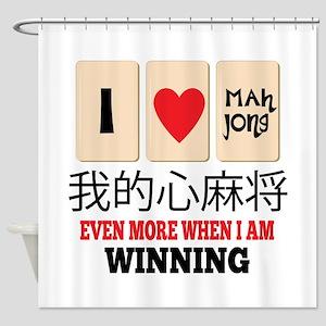 Mah Jong & WInning Shower Curtain