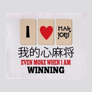 Mah Jong & WInning Throw Blanket