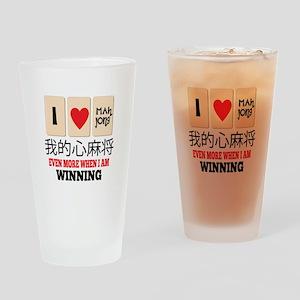 Mah Jong & WInning Drinking Glass