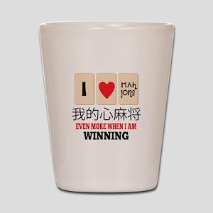Mah Jong & WInning Shot Glass