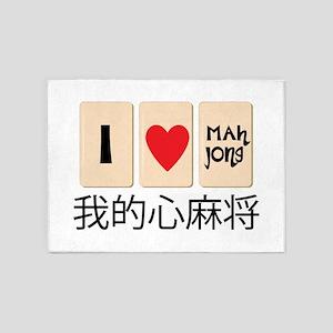 Love Mah Jong 5'x7'Area Rug