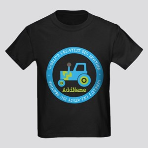 Big Brother Construction Kids Dark T-Shirt