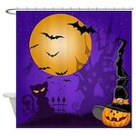 Halloween Night Shower Curtain
